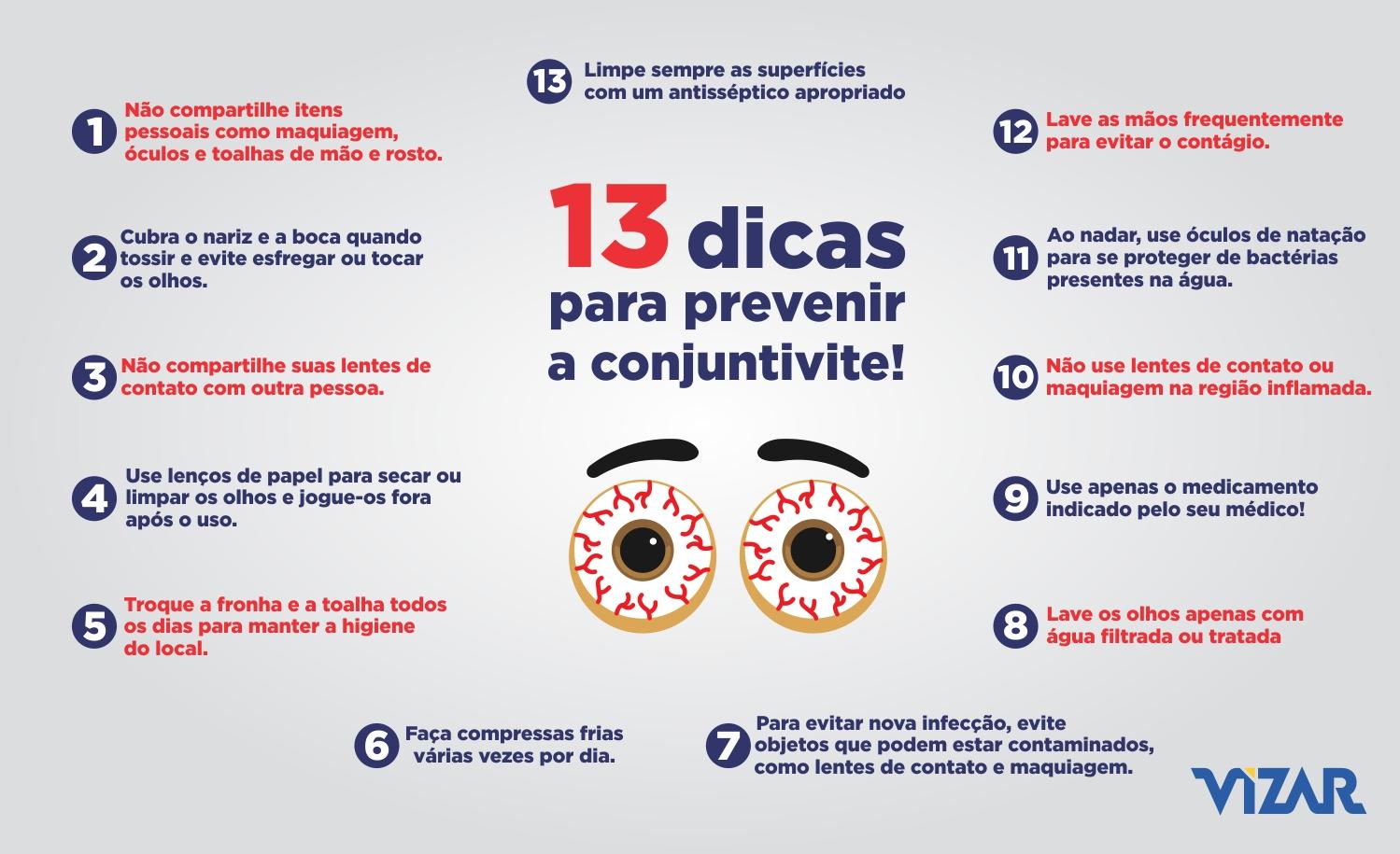 13 Dicas para se proteger da conjuntivite – Vizar Brasil